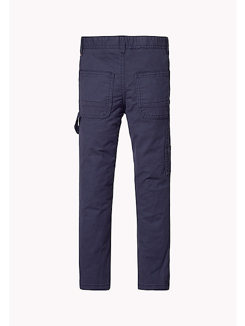TOMMY HILFIGER Slim Fit Trousers - BLACK IRIS - TOMMY HILFIGER Boys - detail image 1