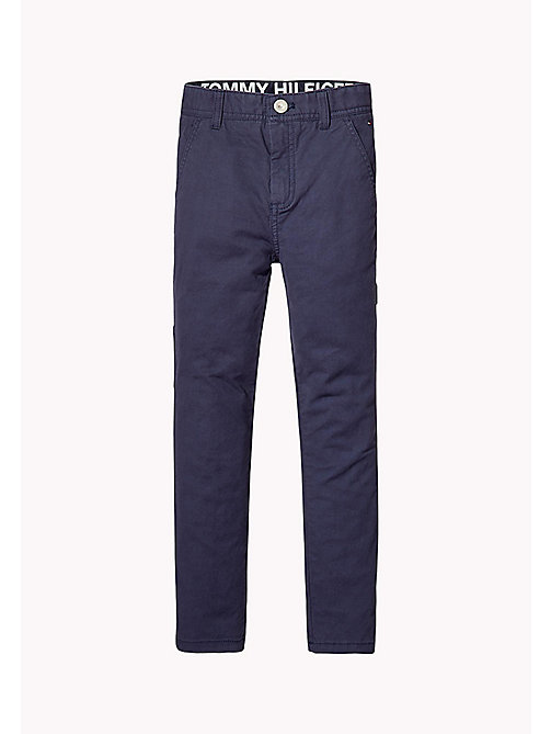 TOMMY HILFIGER Slim Fit Trousers - BLACK IRIS - TOMMY HILFIGER Boys - main image