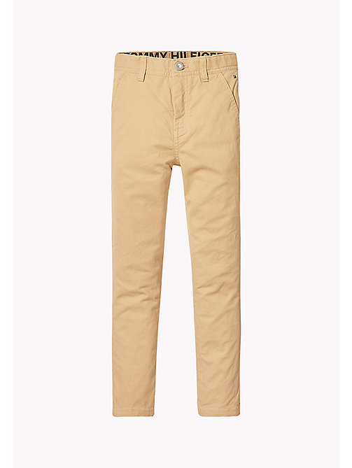 TOMMY HILFIGER Slim Fit Trousers - TAN - TOMMY HILFIGER Boys - detail image 1