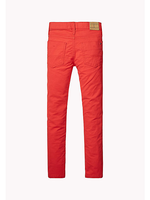 TOMMY HILFIGER Canvas slim fit broek - FLAME SCARLET - TOMMY HILFIGER Jongens - detail image 1