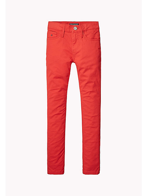 TOMMY HILFIGER Slim Fit Trousers - FLAME SCARLET - TOMMY HILFIGER Trousers & Shorts - main image