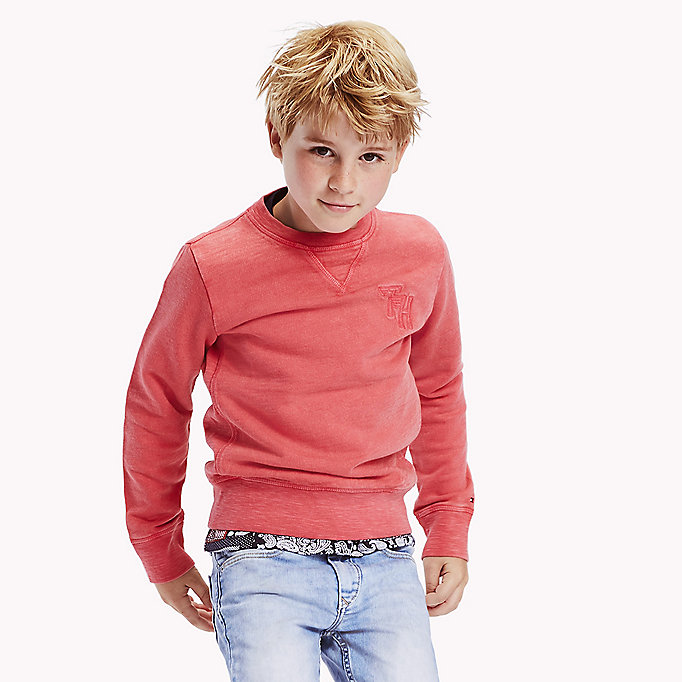 TOMMY HILFIGER Pullover girocollo vintage - BLACK IRIS - TOMMY HILFIGER Bambini - immagine principale