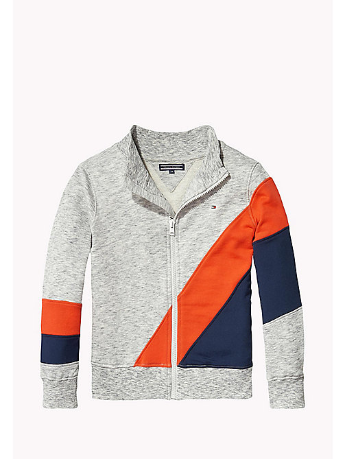 TOMMY HILFIGER Zip-Thru Track Jacket - MODERN GREY HEATHER - TOMMY HILFIGER Coats & Jackets - main image