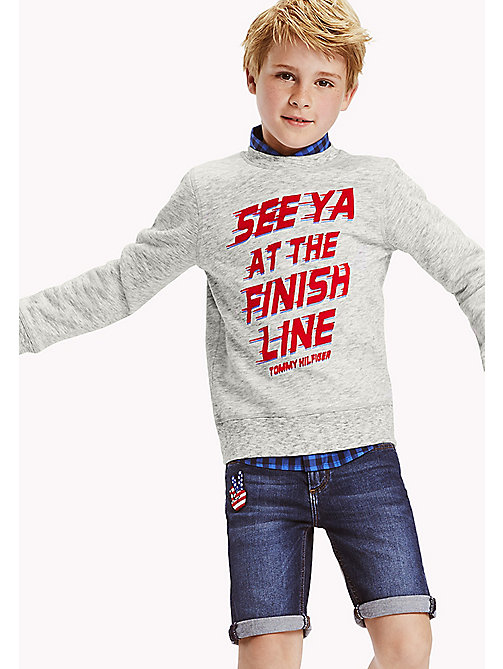 TOMMY HILFIGER Racing Print Jumper - MODERN GREY HEATHER - TOMMY HILFIGER Boys - main image