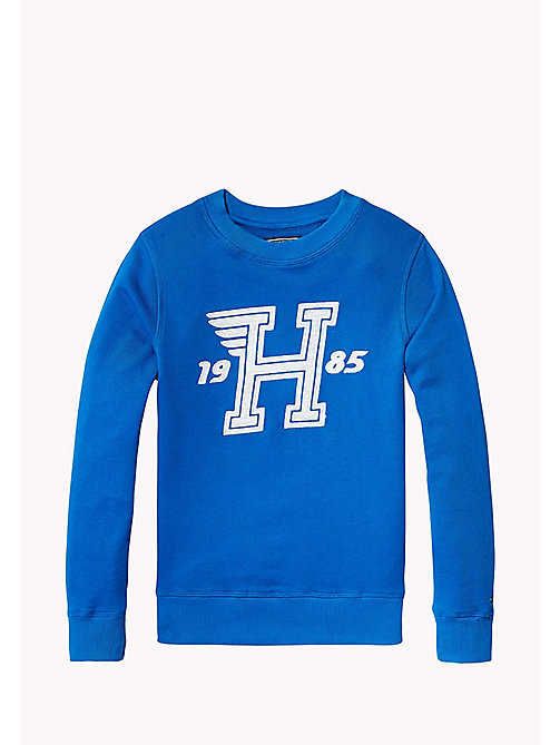 TOMMY HILFIGER Logo Appliqué Print Sweatshirt - NAUTICAL BLUE - TOMMY HILFIGER Sweatshirts & Hoodies - main image