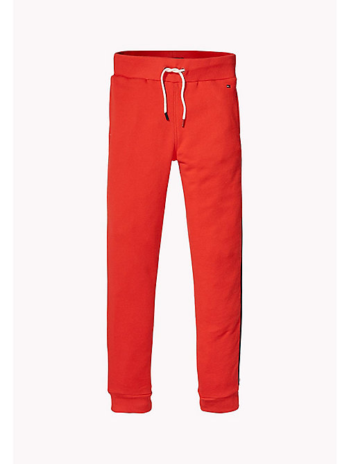 TOMMY HILFIGER Logo Sweatpants - FLAME SCARLET - TOMMY HILFIGER Trousers & Shorts - main image