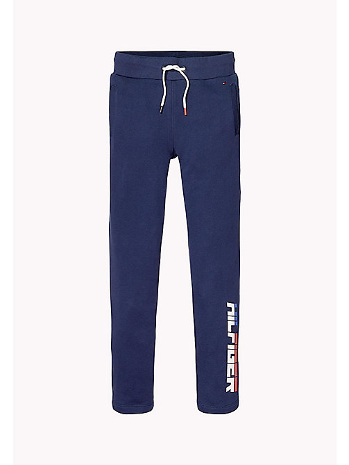 TOMMY HILFIGER Logo Jogging Bottoms - BLACK IRIS - TOMMY HILFIGER Trousers & Shorts - main image