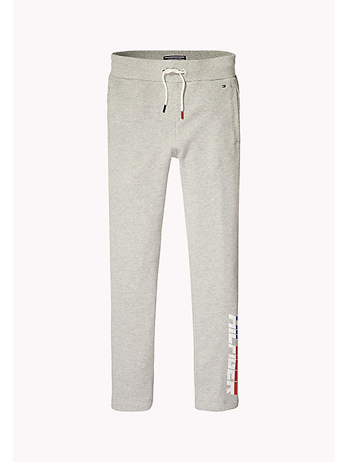 TOMMY HILFIGER Logo Jogging Bottoms - LIGHT GREY HTR - TOMMY HILFIGER Trousers & Shorts - main image