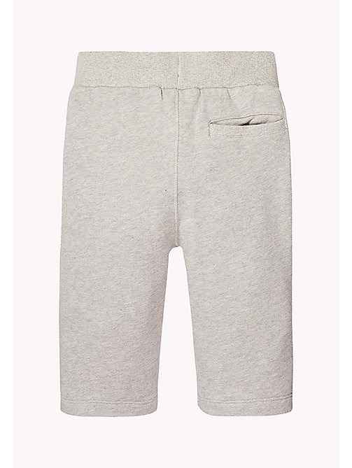 TOMMY HILFIGER Logo Drawstring Sweatshorts - LIGHT GREY HTR - TOMMY HILFIGER Trousers & Shorts - detail image 1