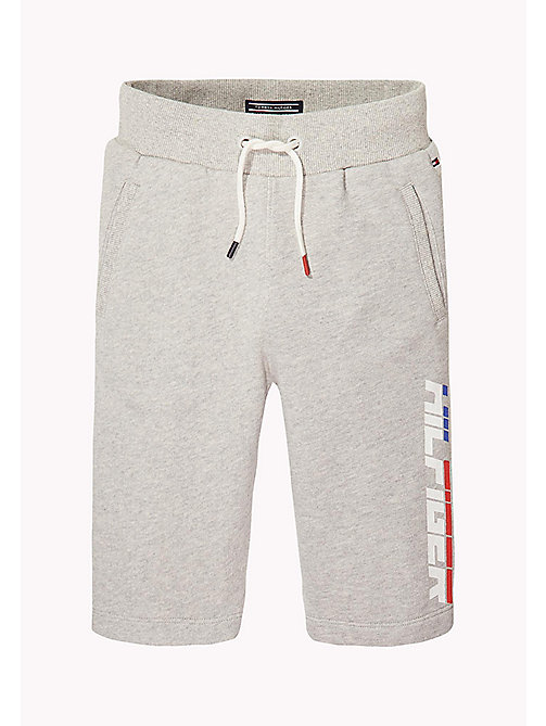 TOMMY HILFIGER Logo Drawstring Sweatshorts - LIGHT GREY HTR - TOMMY HILFIGER Trousers & Shorts - main image