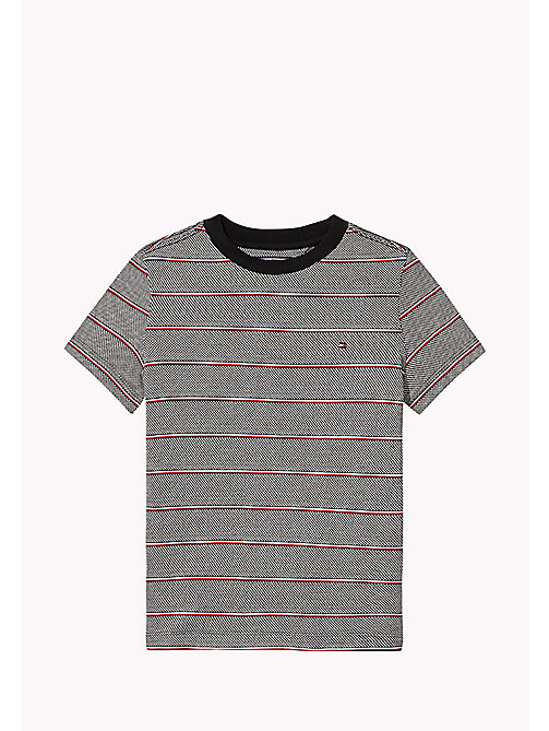 TOMMY HILFIGER Signature Stripe T-Shirt - TOMMY BLACK - TOMMY HILFIGER Boys - main image