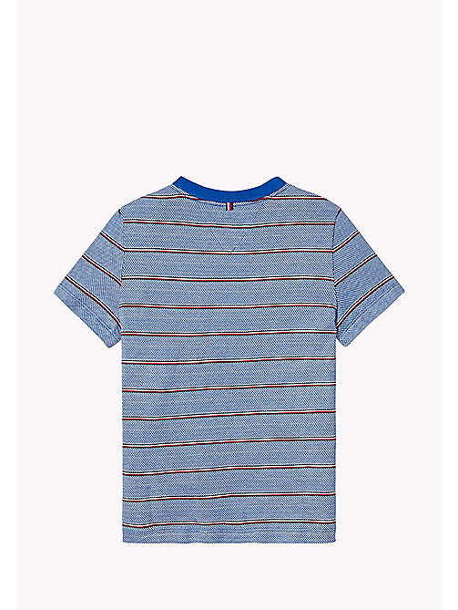 TOMMY HILFIGER Signature Stripe T-Shirt - NAUTICAL BLUE - TOMMY HILFIGER Boys - detail image 1