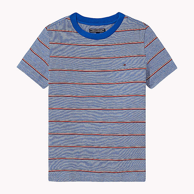 TOMMY HILFIGER Signature Stripe T-Shirt - TOMMY BLACK - TOMMY HILFIGER Kinder - main image