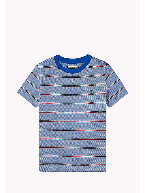 TOMMY HILFIGER Signature Stripe T-Shirt - NAUTICAL BLUE - TOMMY HILFIGER Garçons - image principale
