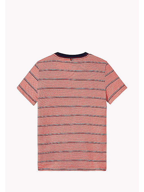 TOMMY HILFIGER Signature Stripe T-Shirt - FLAME SCARLET -  Boys - detail image 1