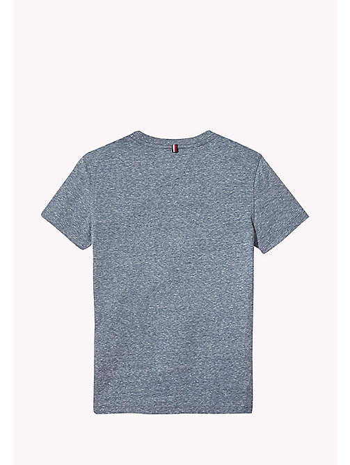 TOMMY HILFIGER Heathered Crew Neck T-Shirt - BLACK IRIS - TOMMY HILFIGER T-shirts & Polos - detail image 1