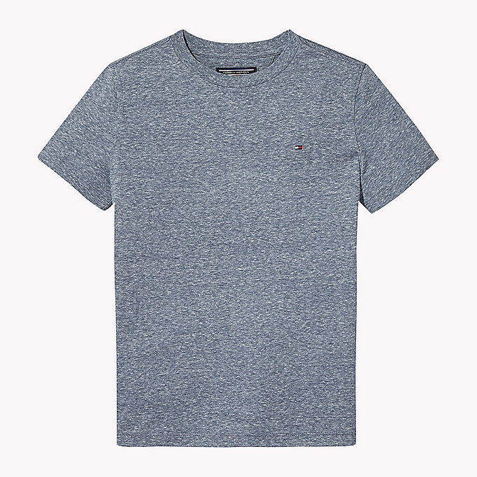 TOMMY HILFIGER Heathered Crew Neck T-Shirt - FLAME SCARLET - TOMMY HILFIGER Kids - main image