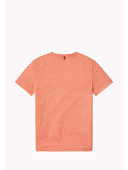 TOMMY HILFIGER Heathered Crew Neck T-Shirt - FLAME SCARLET - TOMMY HILFIGER Boys - detail image 1