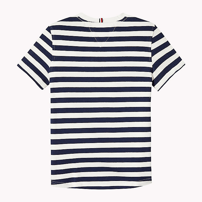 TOMMY HILFIGER Stripe Regular Fit T-Shirt - FLAME SCARLET - TOMMY HILFIGER Kids - detail image 1