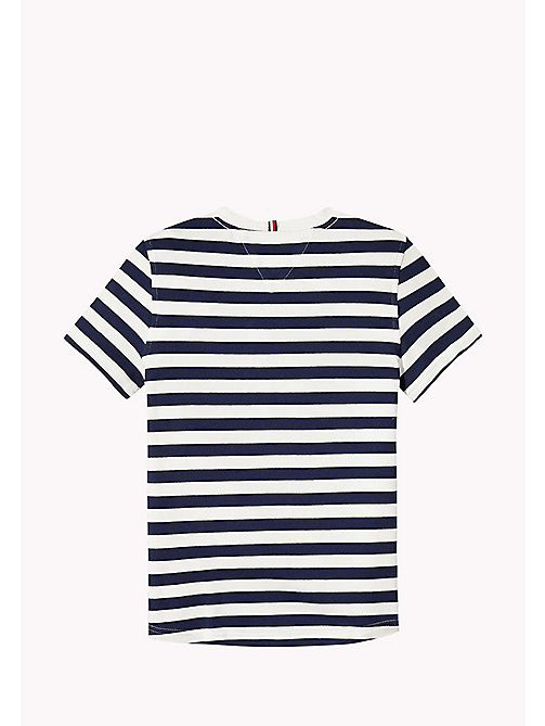 TOMMY HILFIGER Stripe Regular Fit T-Shirt - BLACK IRIS - TOMMY HILFIGER Boys - detail image 1