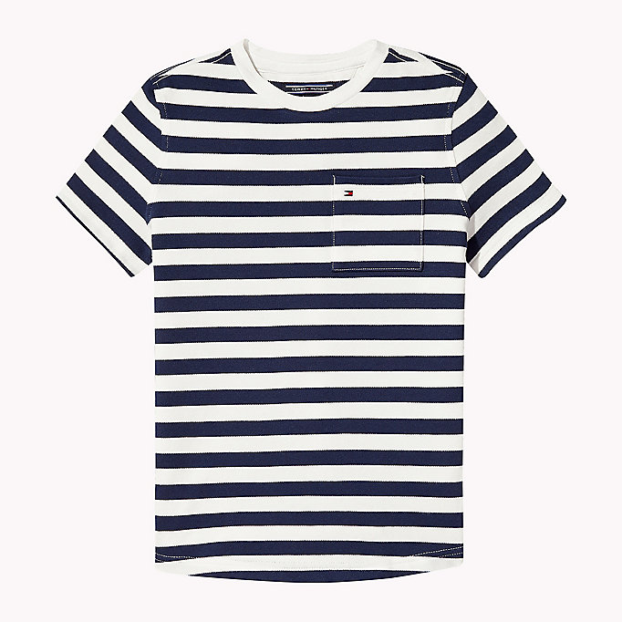 TOMMY HILFIGER Stripe Regular Fit T-Shirt - FLAME SCARLET - TOMMY HILFIGER Kids - main image
