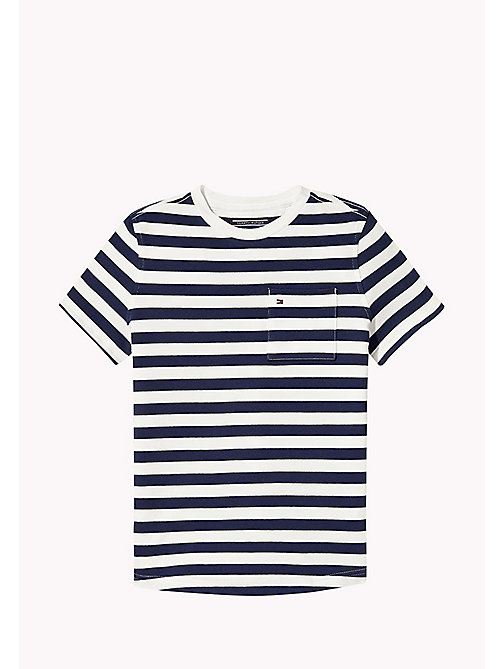 TOMMY HILFIGER Gestreept regular fit T-shirt - BLACK IRIS - TOMMY HILFIGER T-shirts & Polo's - main image