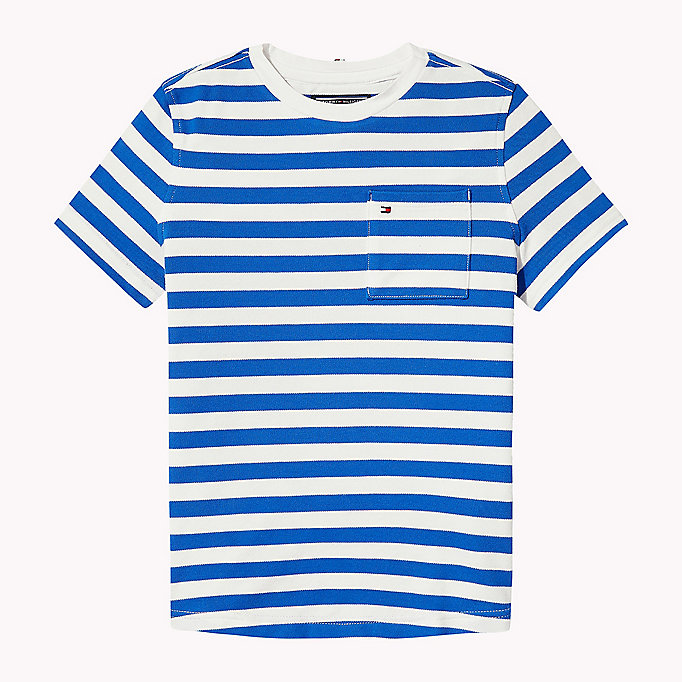 TOMMY HILFIGER Stripe Regular Fit T-Shirt - BLACK IRIS - TOMMY HILFIGER Kids - main image