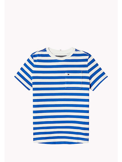 TOMMY HILFIGER Stripe Regular Fit T-Shirt - NAUTICAL BLUE -  Boys - main image