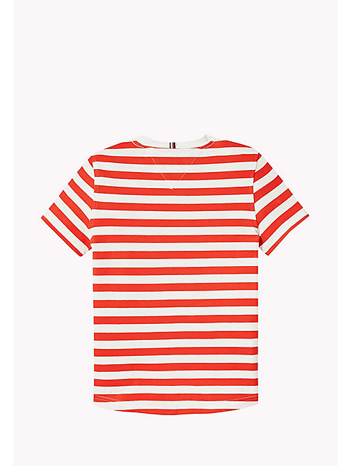 TOMMY HILFIGER Stripe Regular Fit T-Shirt - FLAME SCARLET - TOMMY HILFIGER Boys - detail image 1
