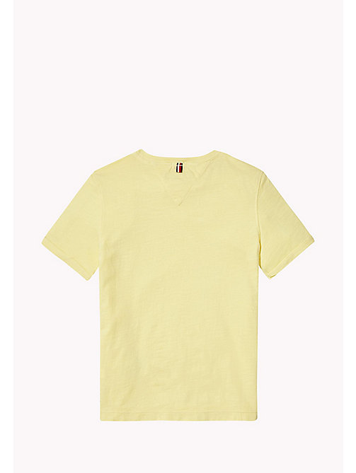 TOMMY HILFIGER Patch Pocket T-Shirt - CUSTARD - TOMMY HILFIGER Boys - detail image 1