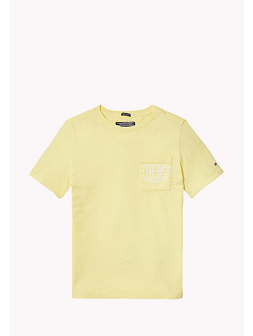TOMMY HILFIGER Patch Pocket T-Shirt - CUSTARD - TOMMY HILFIGER Boys - main image