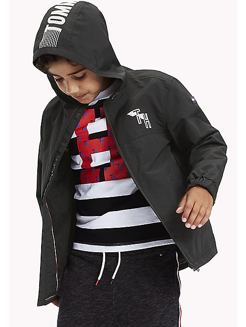 TOMMY HILFIGER Sporty Nylon Jacket - TOMMY BLACK - TOMMY HILFIGER Boys - main image