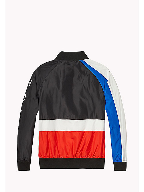 TOMMY HILFIGER Colour-Blocked Bomber Jacket - JET BLACK - TOMMY HILFIGER Boys - detail image 1