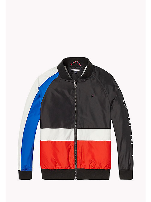 TOMMY HILFIGER Colour-Blocked Bomber Jacket - JET BLACK - TOMMY HILFIGER Coats & Jackets - main image