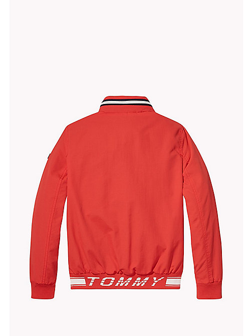 TOMMY HILFIGER Bomber in nylon - FLAME SCARLET - TOMMY HILFIGER Cappotti & Giacche - dettaglio immagine 1