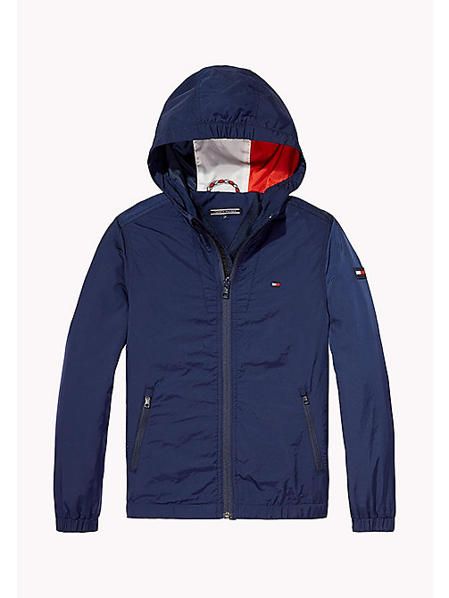 TOMMY HILFIGER Hooded Windbreaker - BLACK IRIS - TOMMY HILFIGER Coats & Jackets - detail image 1