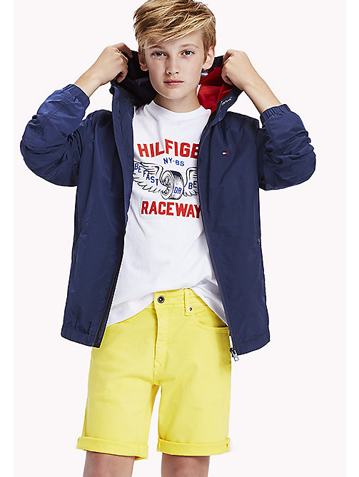 TOMMY HILFIGER Hooded Windbreaker - BLACK IRIS - TOMMY HILFIGER Coats & Jackets - main image