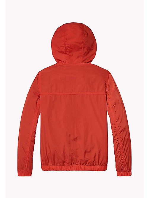 TOMMY HILFIGER Hooded Windbreaker - FLAME SCARLET - TOMMY HILFIGER Coats & Jackets - detail image 1