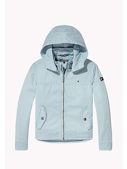 TOMMY HILFIGER Cotton Twill Hooded Jacket - STRATOSPHERE - TOMMY HILFIGER Coats & Jackets - detail image 1