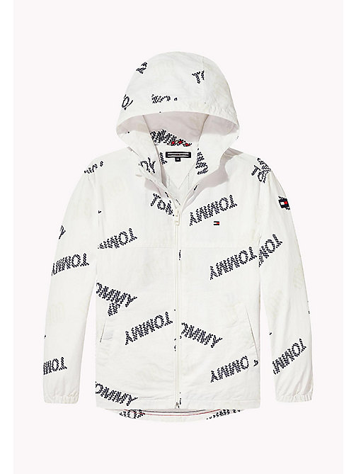 TOMMY HILFIGER BOYS SURPRISE PRINT JACKET - BRIGHT WHITE - TOMMY HILFIGER Coats & Jackets - detail image 1