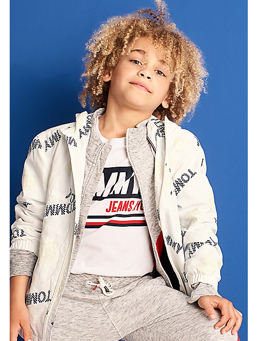 TOMMY HILFIGER BOYS SURPRISE PRINT JACKET - BRIGHT WHITE - TOMMY HILFIGER Coats & Jackets - main image
