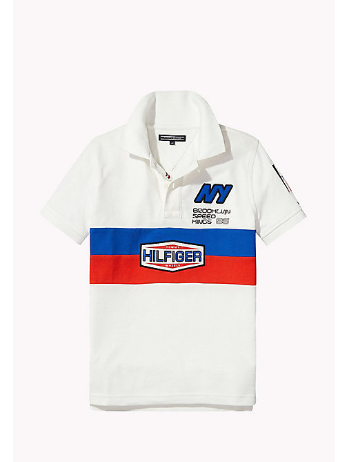 TOMMY HILFIGER Regular Fit Logo Polo - BRIGHT WHITE - TOMMY HILFIGER T-shirts & Polos - main image