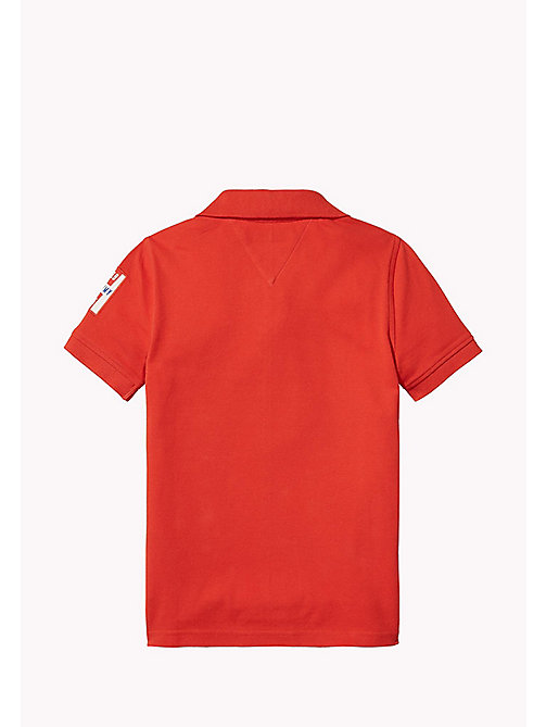 TOMMY HILFIGER Regular Fit Logo Polo - FLAME SCARLET - TOMMY HILFIGER T-shirts & Polos - detail image 1