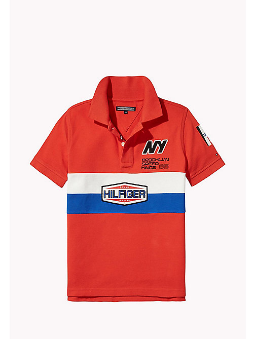 TOMMY HILFIGER Regular Fit Logo Polo - FLAME SCARLET - TOMMY HILFIGER T-shirts & Polos - main image