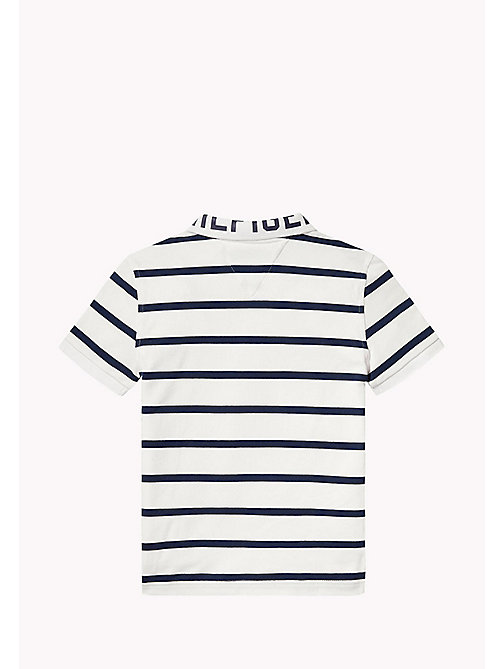 TOMMY HILFIGER Logo Stripe Polo - BRIGHT WHITE - TOMMY HILFIGER Boys - detail image 1