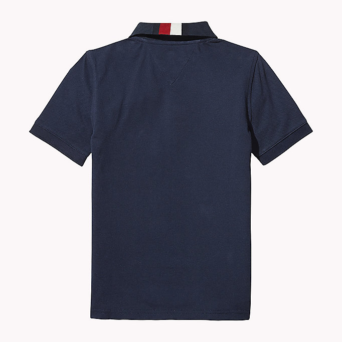 TOMMY HILFIGER Signature Stripe Polo Shirt - BRIGHT WHITE - TOMMY HILFIGER Enfants - image détaillée 1