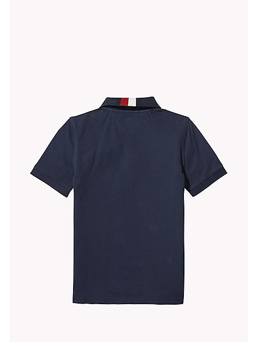 TOMMY HILFIGER Signature Stripe Polo Shirt - BLACK IRIS - TOMMY HILFIGER T-shirts & Polo - dettaglio immagine 1