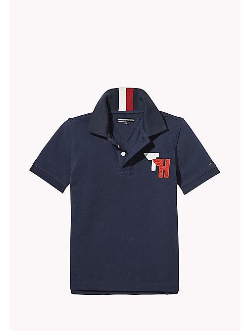 TOMMY HILFIGER Signature Stripe Polo Shirt - BLACK IRIS - TOMMY HILFIGER T-shirts & Polo - immagine principale