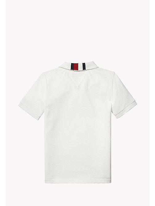 TOMMY HILFIGER Signature Stripe Polo Shirt - BRIGHT WHITE - TOMMY HILFIGER T-shirts & Polos - detail image 1