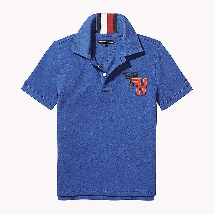 TOMMY HILFIGER Signature Stripe Polo Shirt - BLACK IRIS - TOMMY HILFIGER Kids - main image